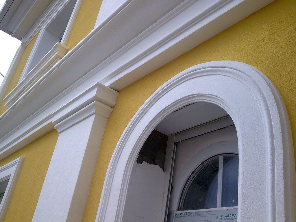 фасад с лепниной